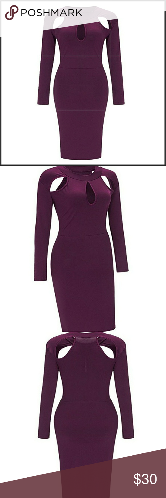 Plus size cut out dress purple dress and customer support