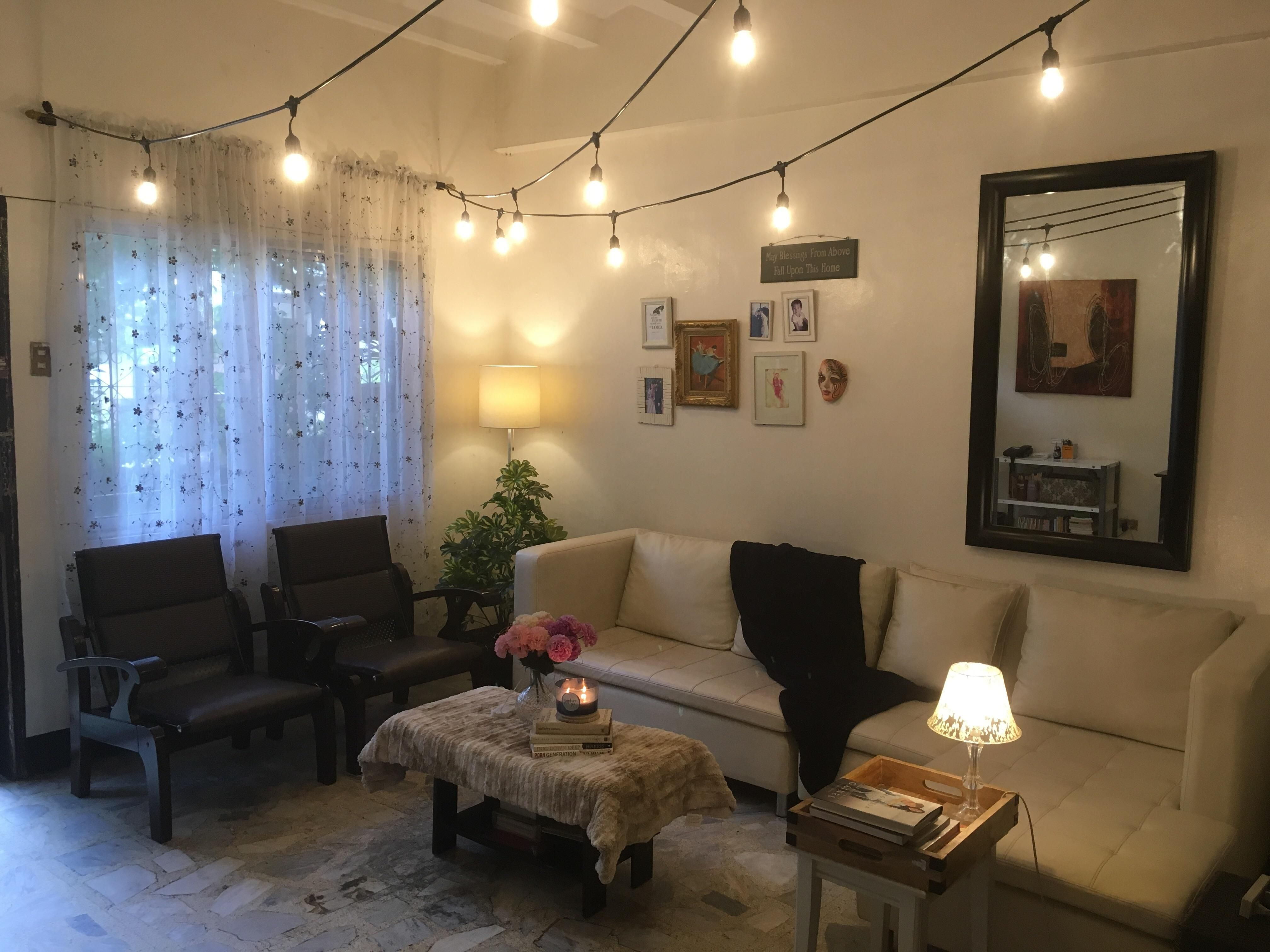 Fairy Lights In Living Room Living Room Decor Apartment First