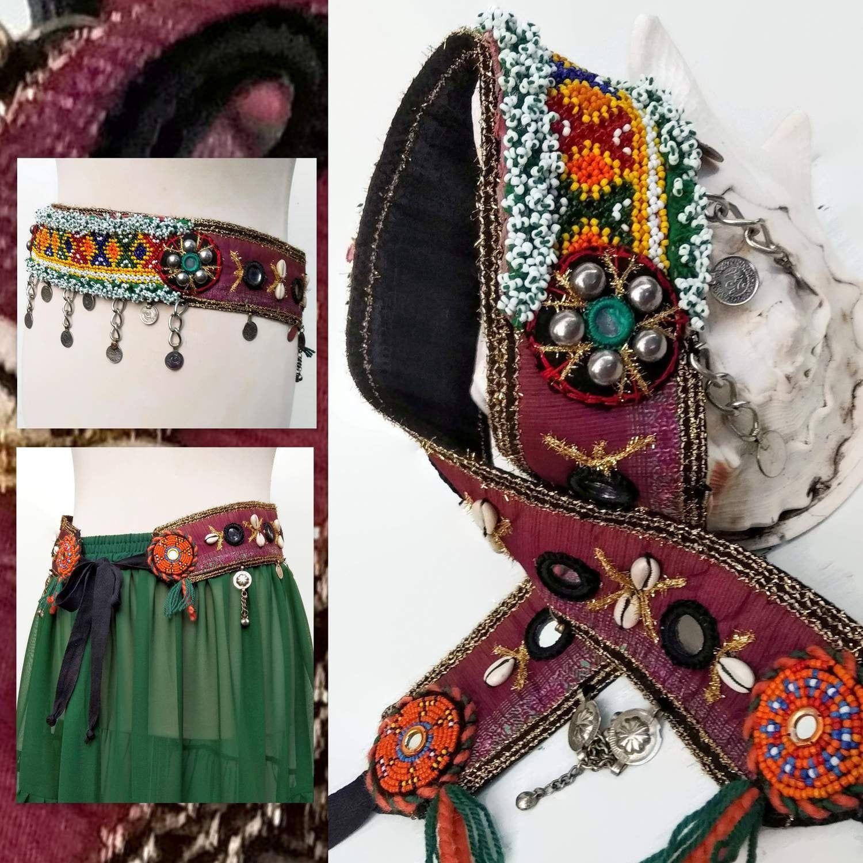 ATS Costume Belt Tribal Belly Dance Belt Boho