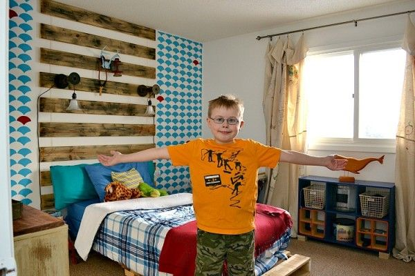 budget makeover for a boy s bedroom with curtain tutorial i love