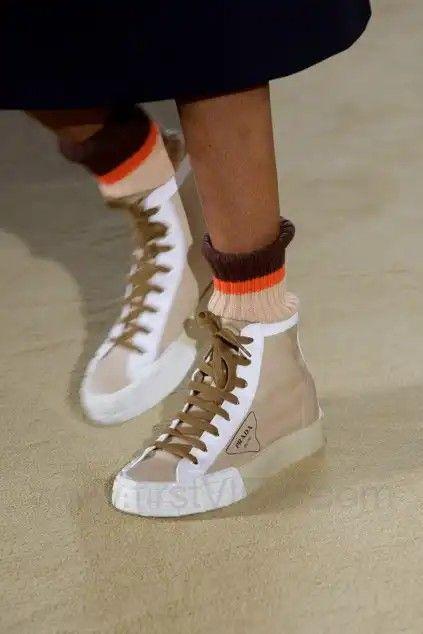 Trending shoes, Prada sneakers, Prada shoes