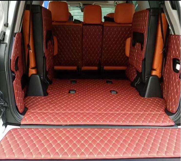 Full Rear Trunk Tray Liner Cargo Mat Floor Protector Foot Pad Mats For Toyota Land Cruiser Lc200 2008 2015 2016 Interior Accessories Cargo Mat Floor Protectors