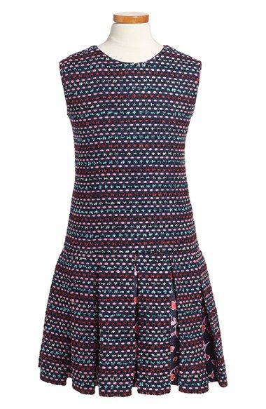 Oscar de la Renta Sleeveless Tweed Dress (Little Girls & Big Girls) available at #Nordstrom