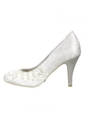 Wedding heels, white,, lace, classic, Menbur, zalando