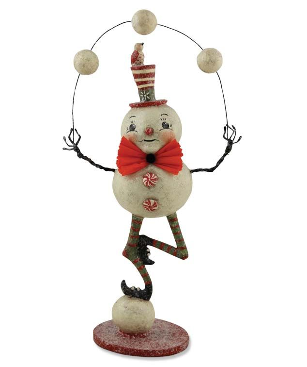 Johanna Parker Juggling Snowman  Find more of Johanna's reproductions in our By Artist:Johanna Parker category shelleybhomeandholiday.com
