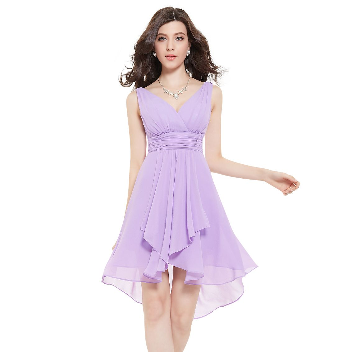 Ruffles padded v neck high low bridesmaid dress 03644 sears ruffles padded v neck high low bridesmaid dress 03644 sears ombrellifo Gallery