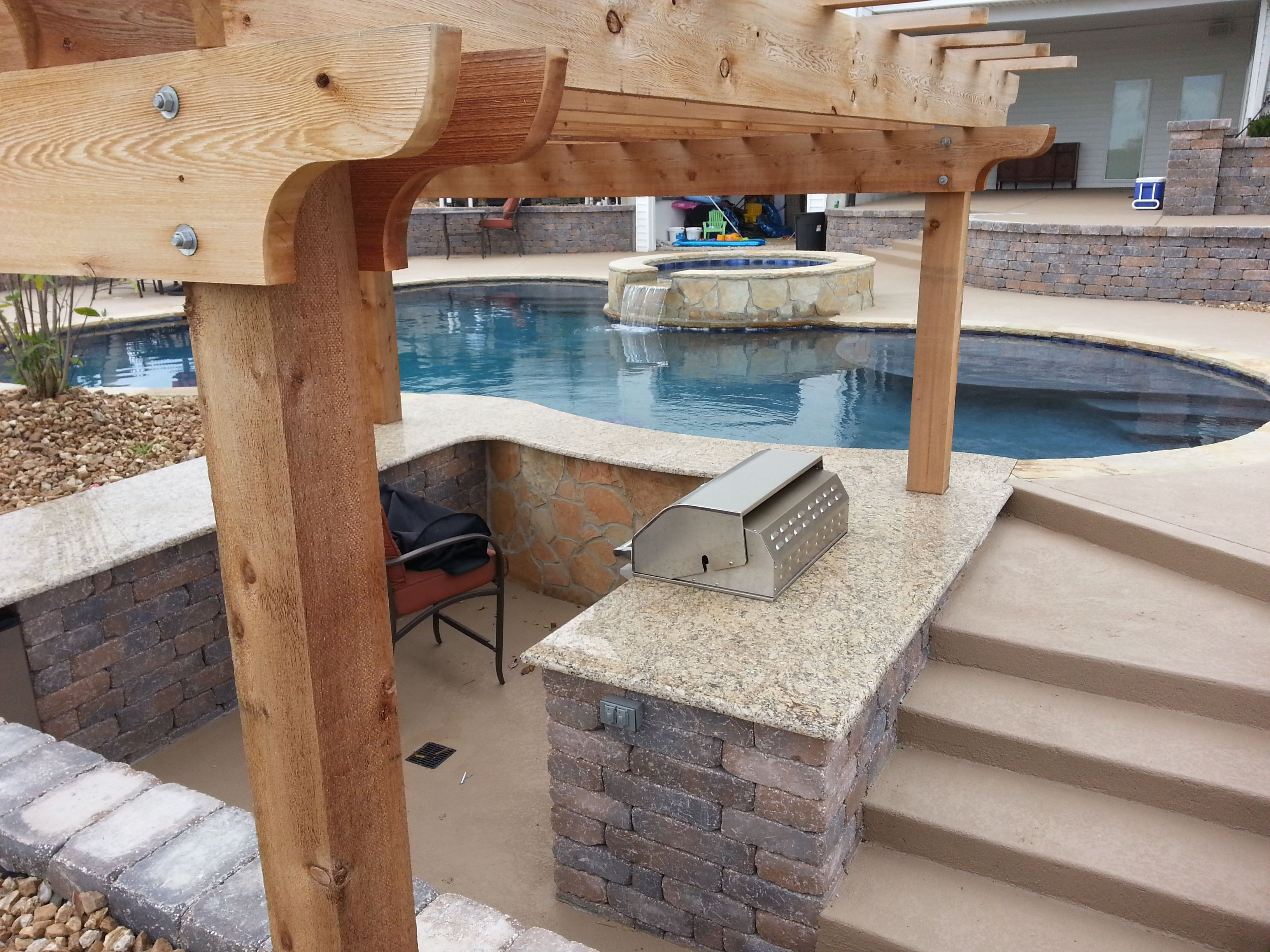 blue haven pools of kansas city out door swim up bar and grill