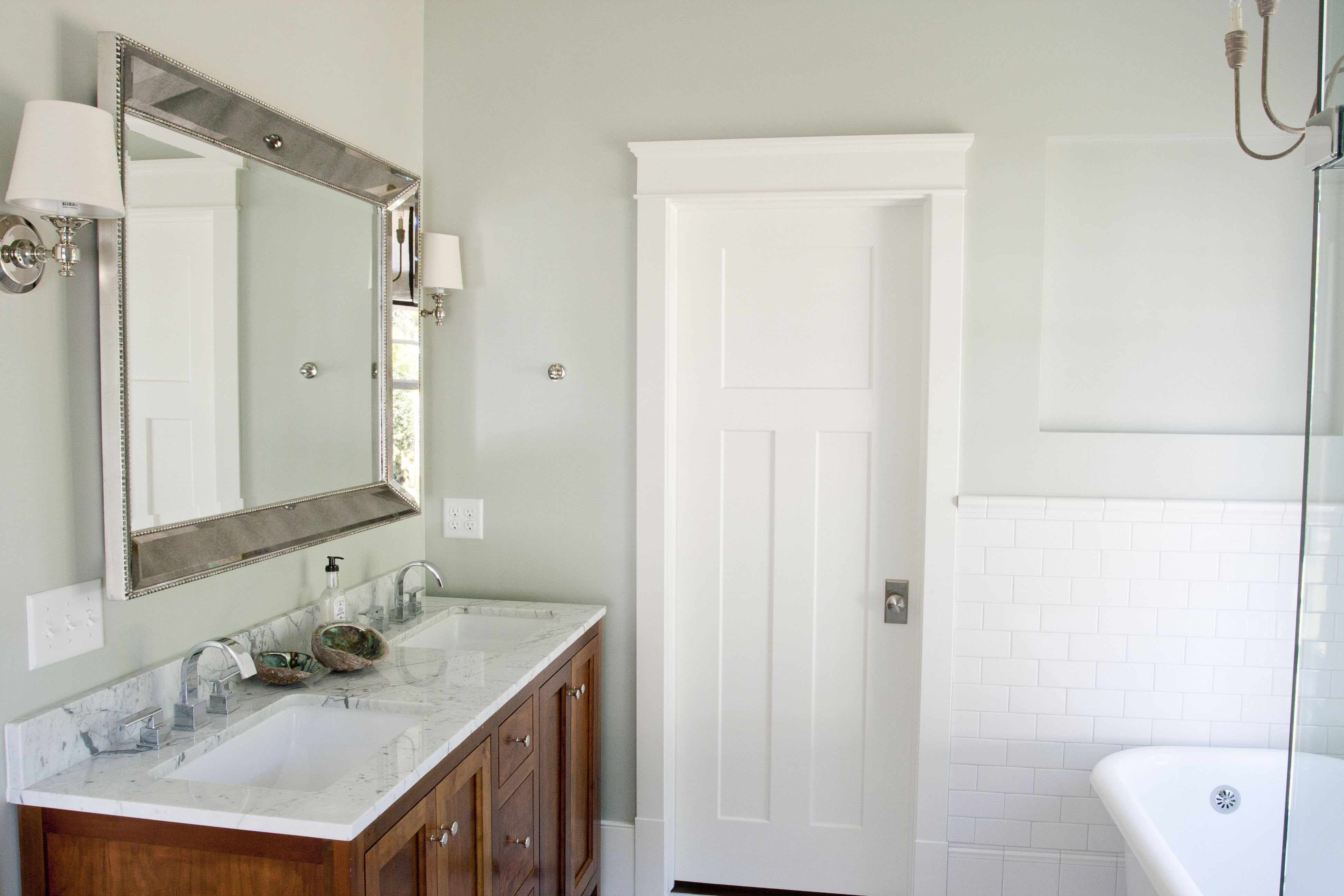 Master bathroom paint silver sage by restoration hardware