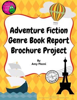 adventure genre book report brochure project rubric fiction
