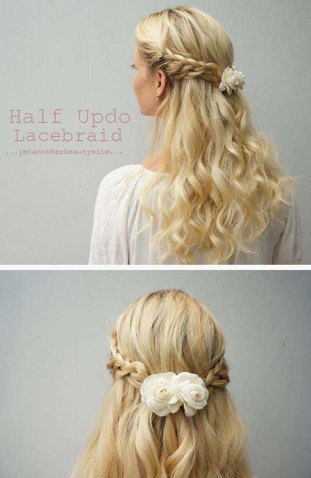 Braid Bun Hairstyles Half Up Half Down