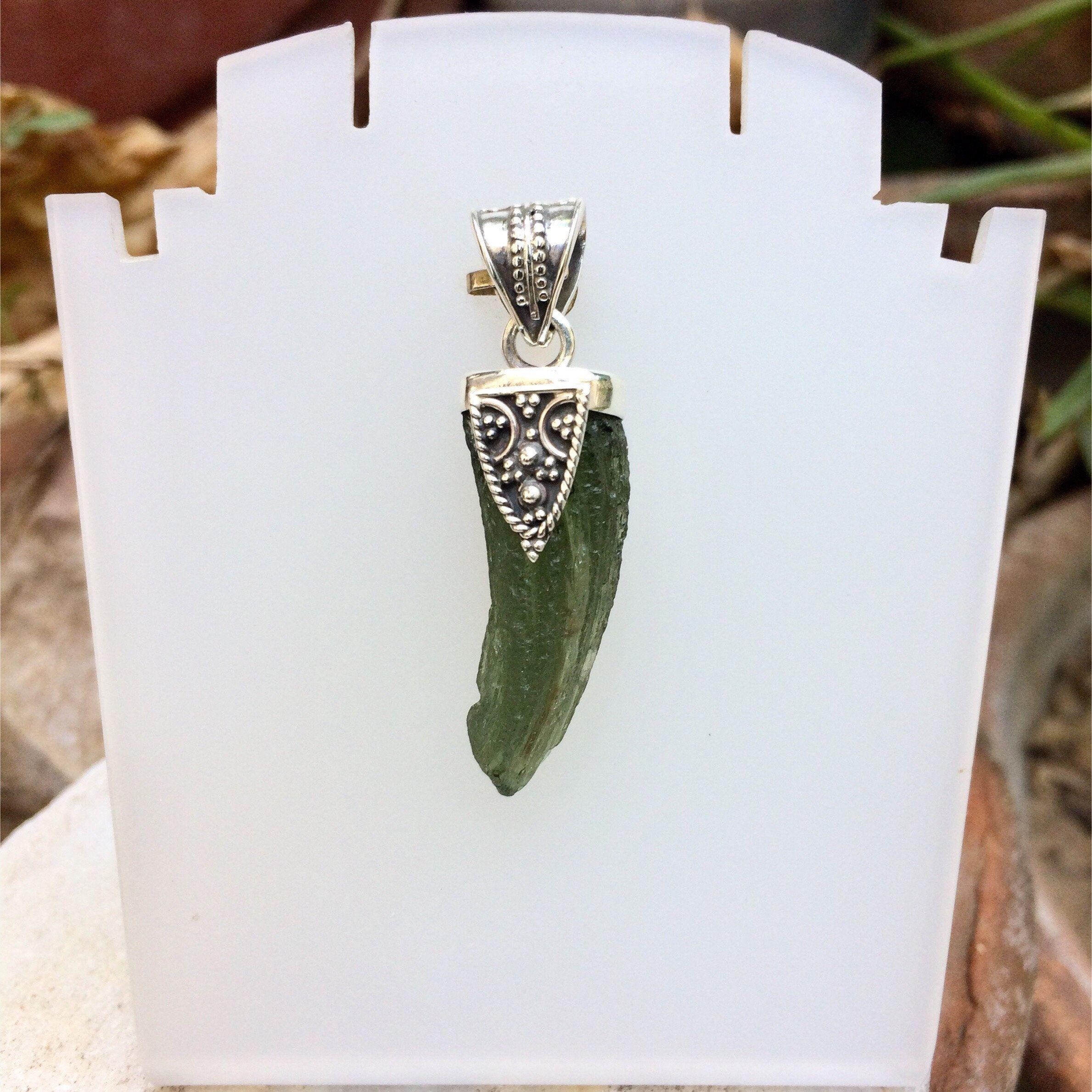 meteorite pendant silver wire wrap moldavite pendant moldavite pendant genuine moldavite minimalist pendant raw moldavite pendant