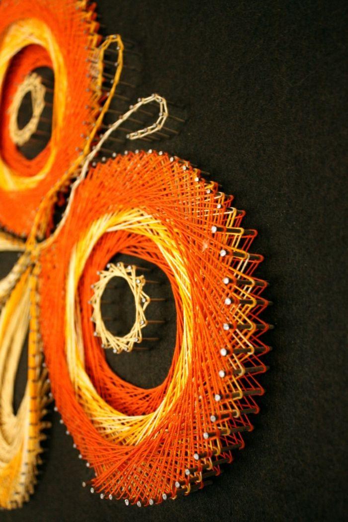 wandideen wanddeko string art wandgestaltung selber machen - wandideen