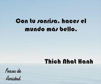 Frases De Sonrisa De Thich Nhat Hanh Sonrisa Frases