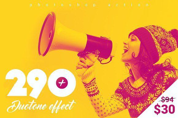 290+ Duotone Actions by Invents on @creativemarket