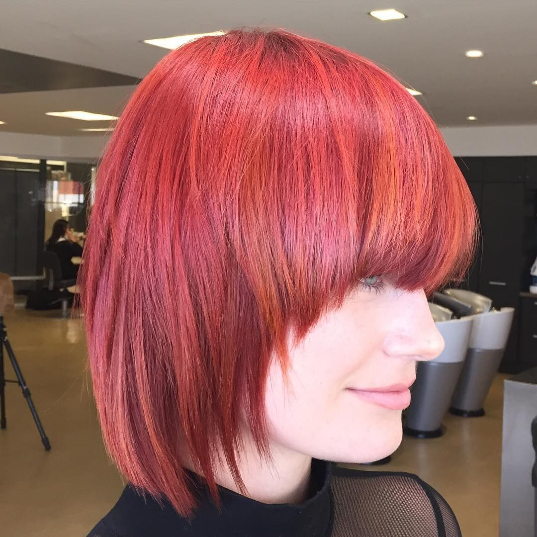 cool 55 Exclusive Ideas for Bob With Bangs -  Playful and Intriguing