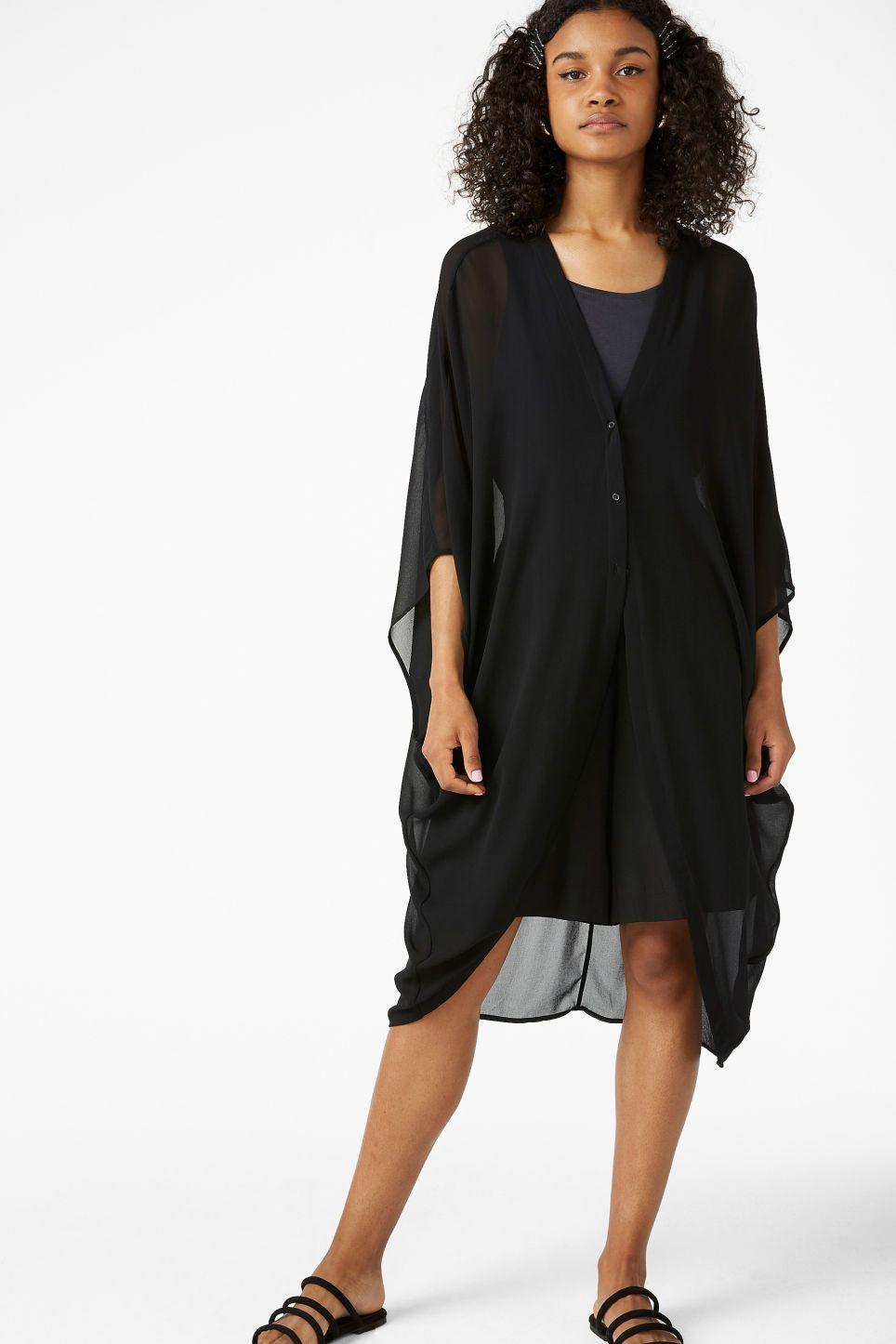 Floaty Beach Dress Black Magic Shirts Blouses Monki Beach Dress Dresses Fashion