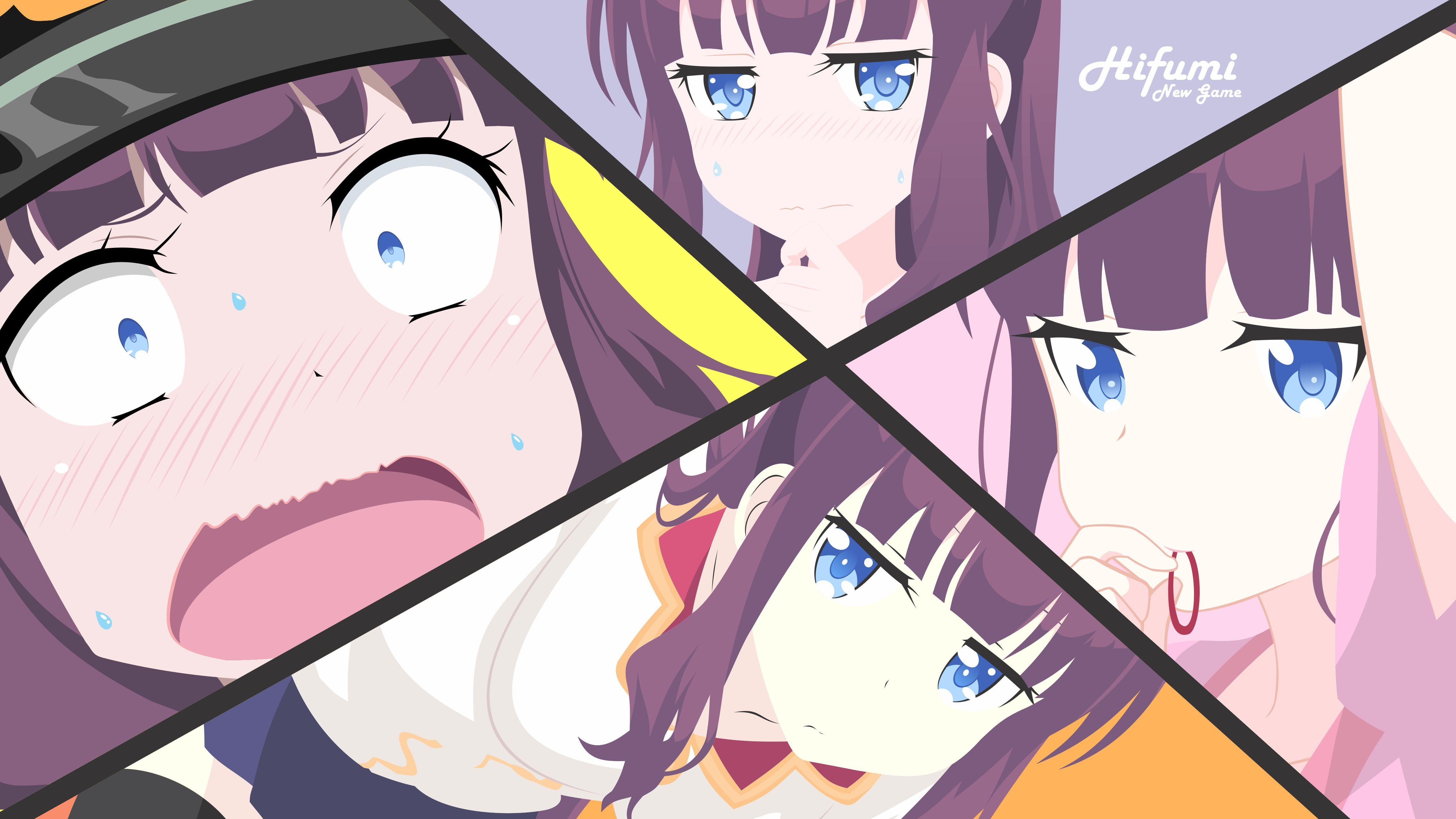 Anime New Game! Hifumi Takimoto 4K wallpaper
