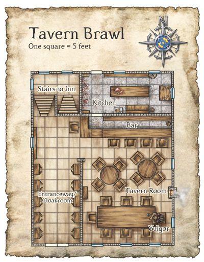 Floorplan Of A Tavern Buildings Pinterest Rpg