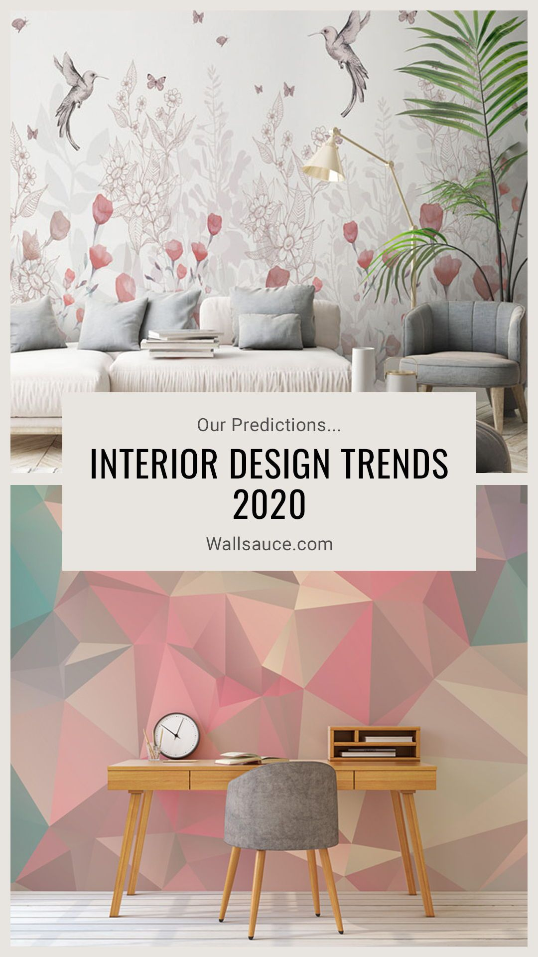 Interior Design Trends 2020 Our Predictions Wallsauce Ca Wall Decor Trends Trending Decor Wallpaper Trends