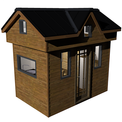 """Tiny House """"The Nook"""" from Humble Homes, 119 sq Ft total living space"""
