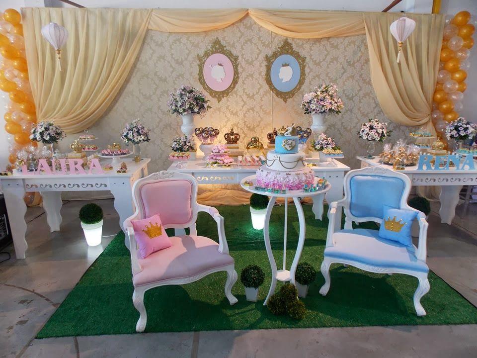 Amado Hoje tem Festa Príncipe e Princesa!!Quem tem gêmeos é uma ótima  SM53
