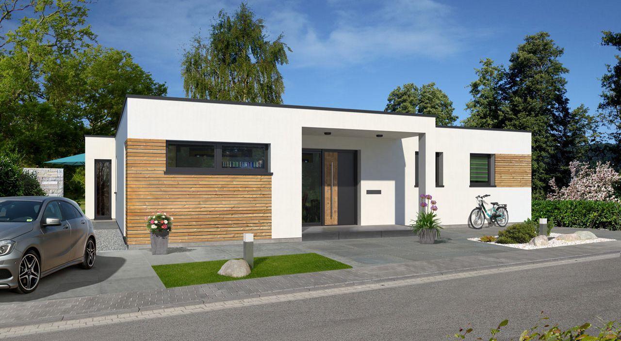 3D visualisation CH Bungalow pultdach Haus bungalow