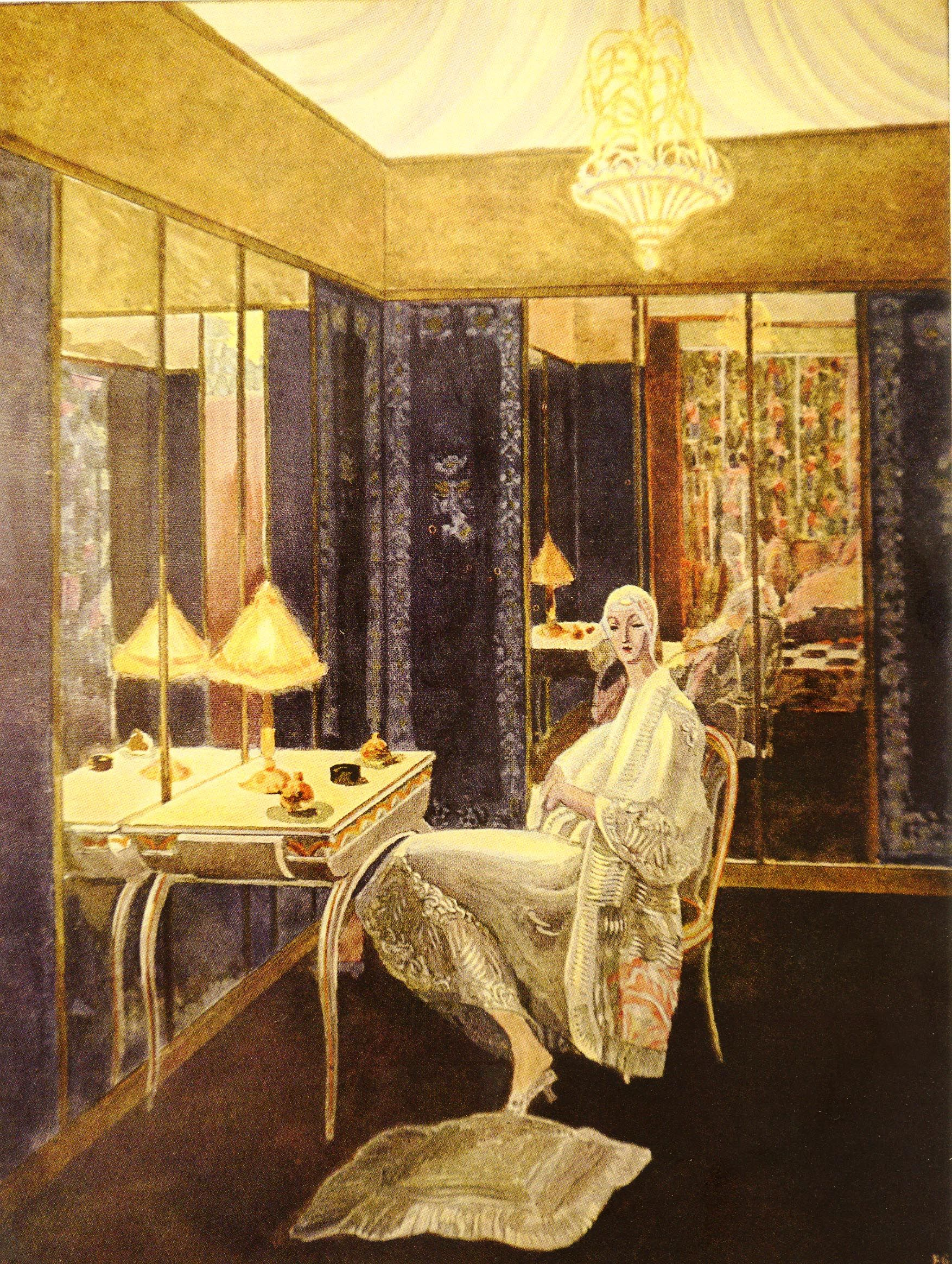 An interpretation of the dressing room for an actress