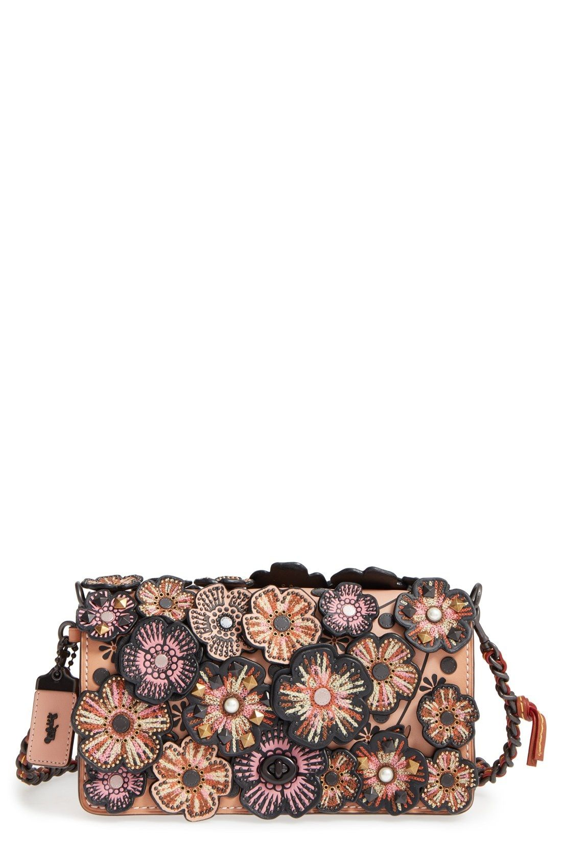 deb0e83354 COACH 1941 'Dinky' Tea Rose Appliqué Leather Crossbody Bag available at # Nordstrom