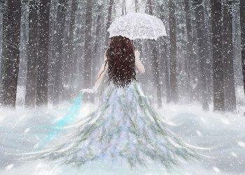 Beautiful Snow Scenes At Night Free Beautiful Snow Girl Wallpaper