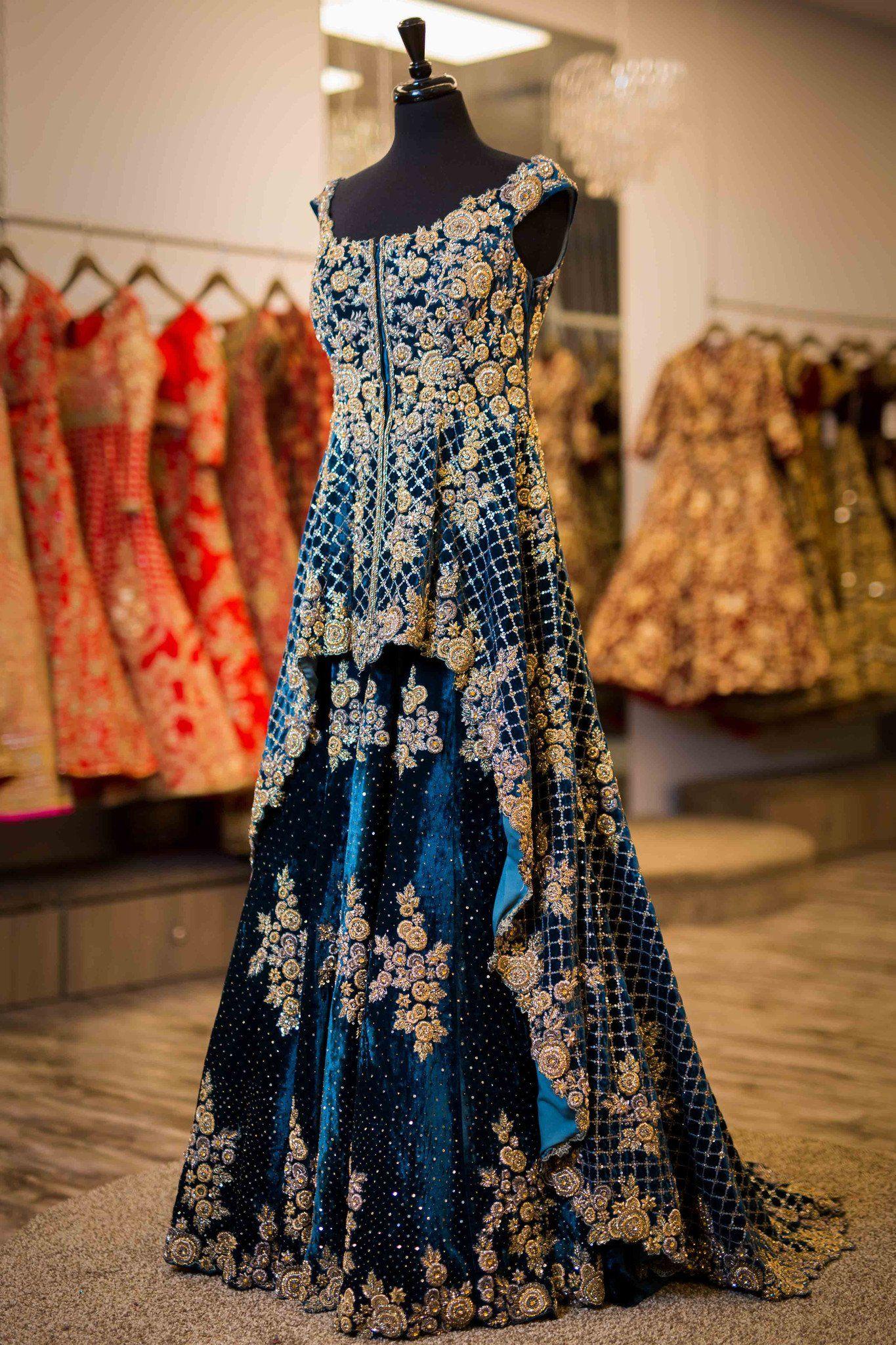 Velvet Bridal Gown