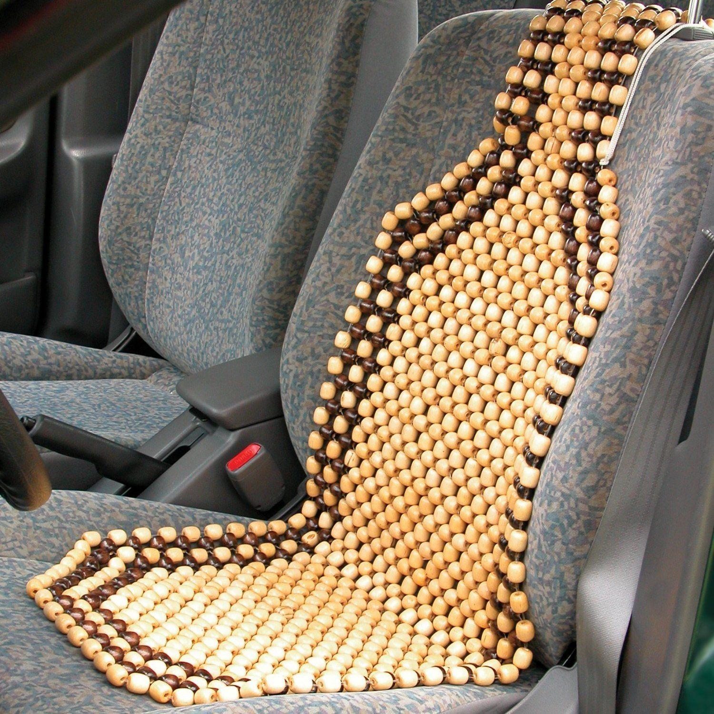 Wooden Bead Seat Acupressure Design Universal Size 2