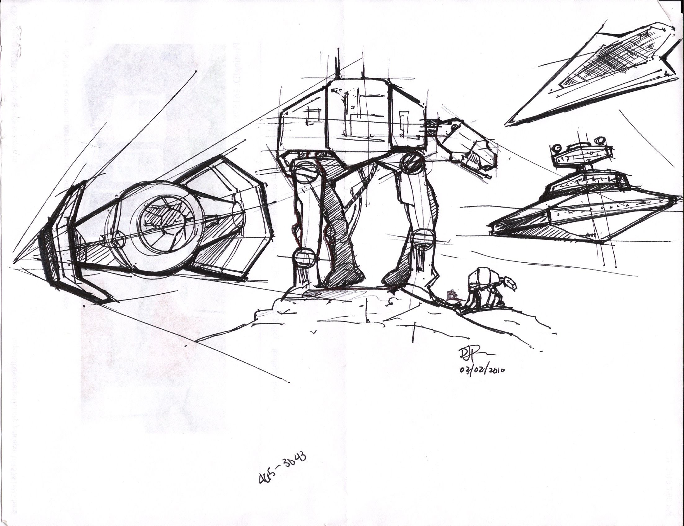 Star Wars Imperial Vehicles Sketches STAR WARS