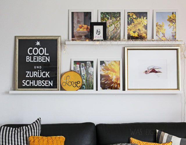 Bilderleiste Wohnzimmer: Grau Schwarz Weiss U0026 Gelb | DIY 3D Schrigftzug  LOVE | Anleitung | Waseigenes.com