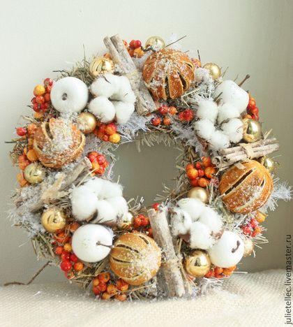 Новый год 2015 ручной работы. Ярмарка Мастеров - ручная работа Апельсиновый венок. Handmade.