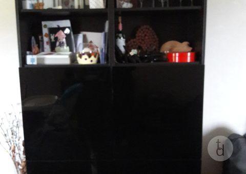 Donne meuble BESTA IKEA noir deux portes #donne #gratuit #toutdonner