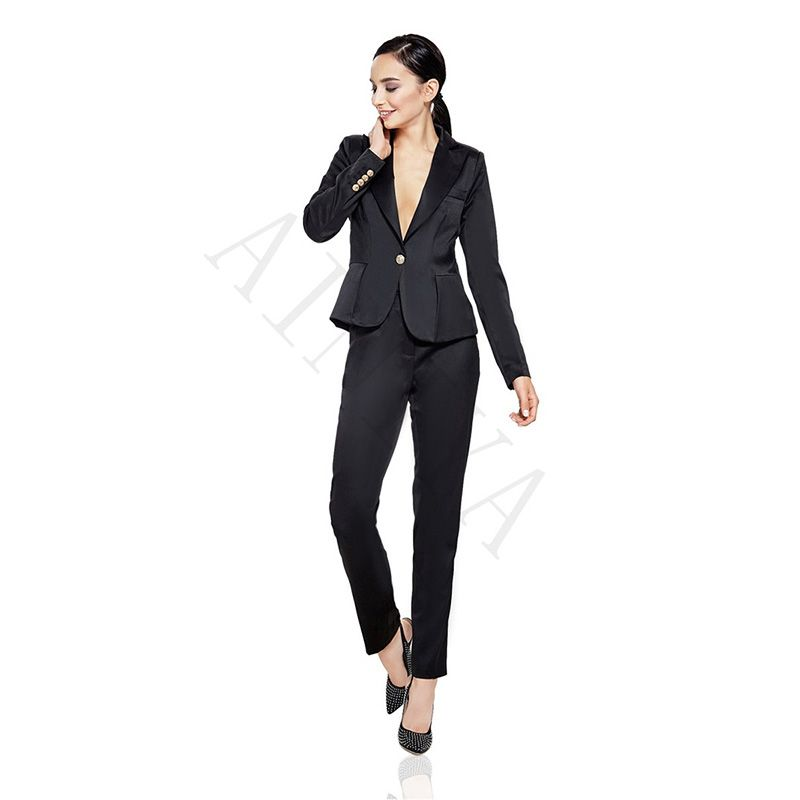 Black Pant Suit Ladies
