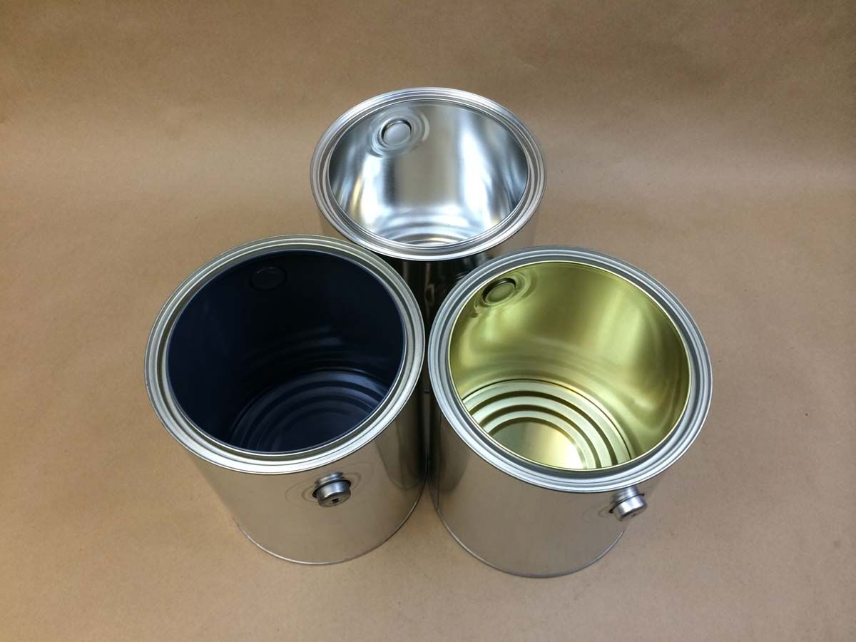 Empty Tin Paint Cans Gallon Size For Sale Yankee Containers Drums Pails Cans Bottles Jars Jugs And Boxes Paint Cans Canning Tin