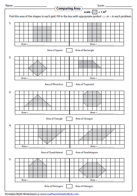 Comparing Area of any 2 Shapes | Maths | Pinterest | Shapes, Math ...