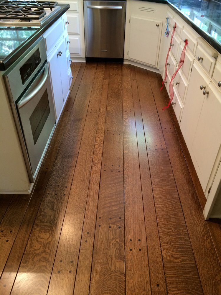 Sand Refinish Rift Quarter Sawn Red Oak With Provincial Stain