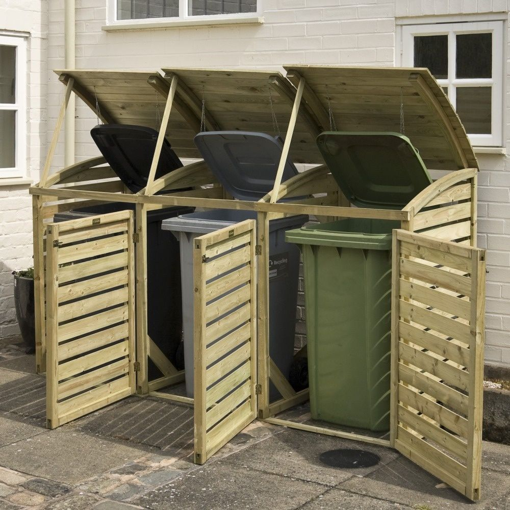 nice wheelie bin storage cabinets garden escape in 2019 bin rh pinterest com