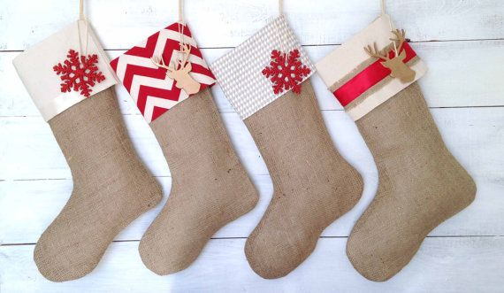 c495bbd2a Personalized Christmas Stocking Set of 4 Red   by TwentyEight12