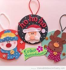 Resultado de imagen de adornos navidad goma eva arbol Pinterest