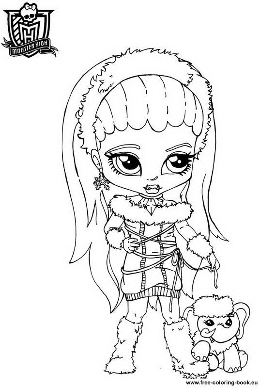 coloring pages from monster high | Do you like this coloring pages ...