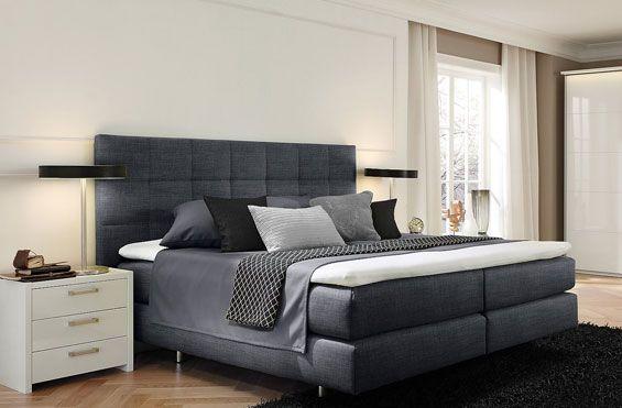 Designer Boxspringbett Boxspringbett Schlafzimmer Einrichten Schwarze Zimmer