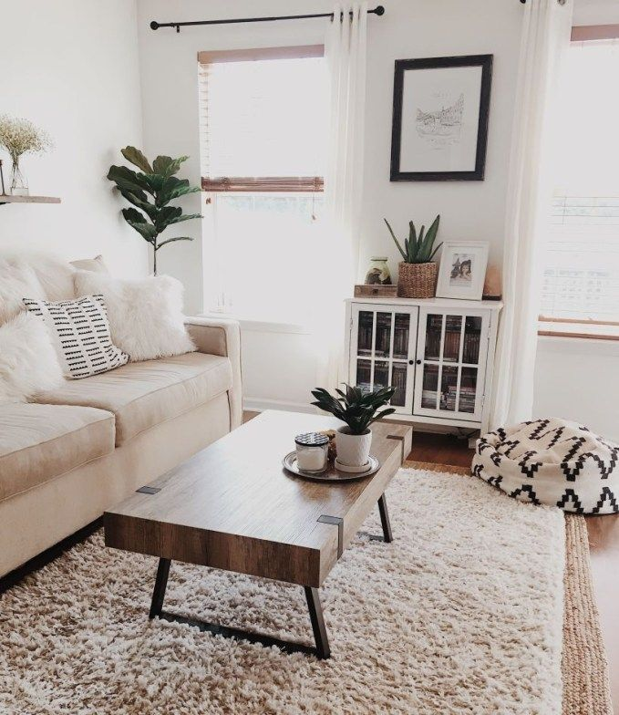 47 Neat and Cozy Living Room Ideas for Small Apartment #cozyliving