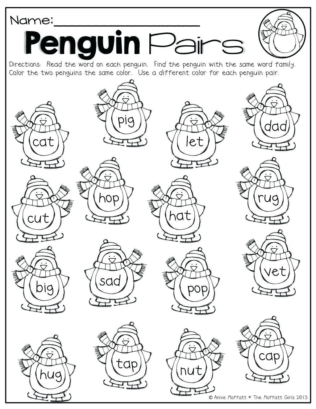 Rhyming Words Worksheets For Kindergarten In