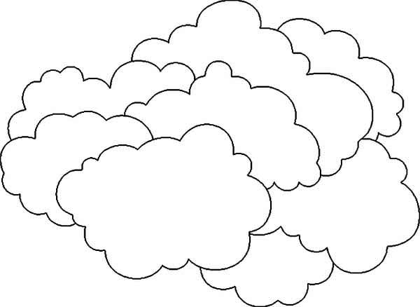 The Clouds Is So Heavy Coloring Page Netart Coloring Pages Cloud Template Coloring Pages For Kids