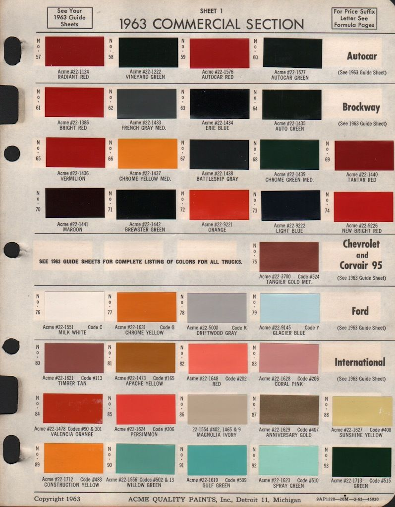 Paint Chips 1963 Chevy Truck | 1963 c-10 | C10 chevy truck, 1963