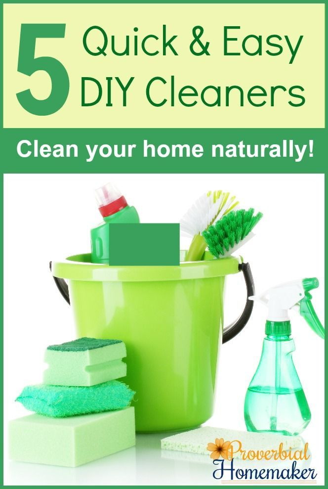 5 Quick and Easy DIY Cleaner Recipes Love these 5 tried and true DIY cleaner recipes for natural household cleaning