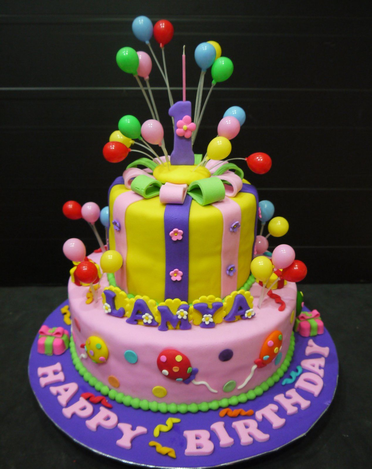 Fondant cake Balloons Kids birthday queques